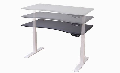 FlexiSpot electric height adjustable standing desk with curved desktop