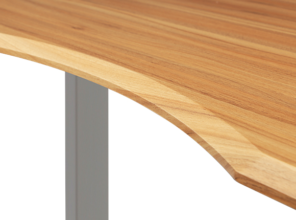 Curved design with contoured edges