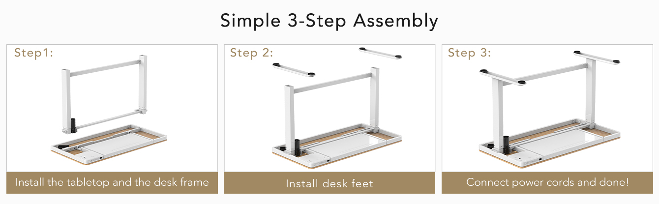 Comhar simply 3-step assembly bamboo