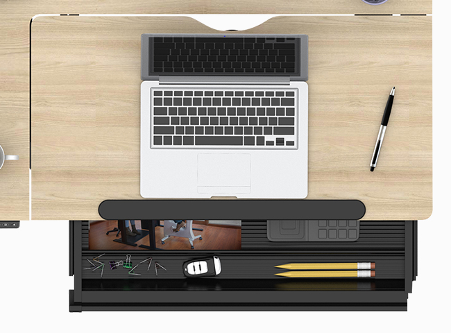 Drafting Table Spacious Integrated Drawer