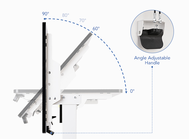 Height Adjustable Whiteboard Standing Desk