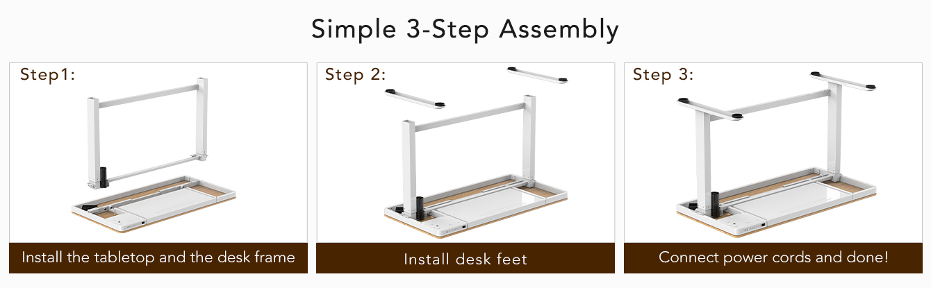 "Comhar All-in-One Standing Desk Wooden Top - 48"" W"
