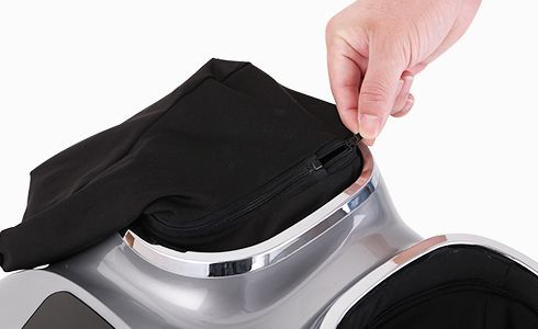 Removable and washable cloth covers in the foot chambers help keep a clean and healthy environment. You can easily pull down the zipper to take it out to wash, making it clean when it used by different people.