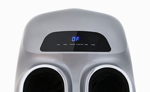 Soft-Touch control panel allows for easy feature customization. The Touch panel control sits visibly on the center of the massager. A gentle yet powerful massage experience awaits at your fingertips in seconds.