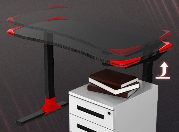 """Electric Height Adjustable Gaming Desk - 48""""W"""