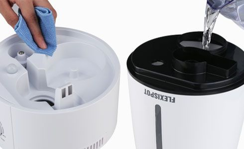 This humidifier has 3L large capacity which can support up to 37 hours continuous working and brings you all day freshness with only one time water filling.