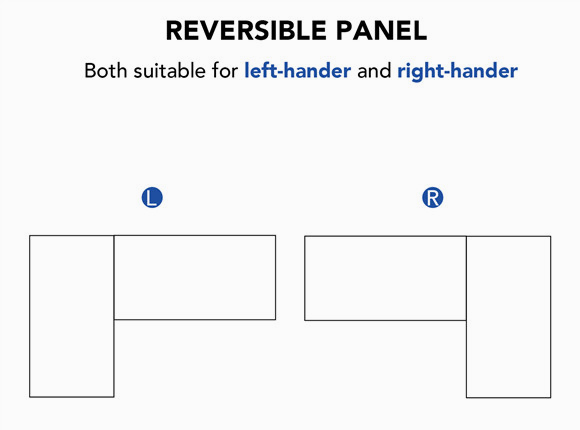 Adjustable Standing Desk reversible panel