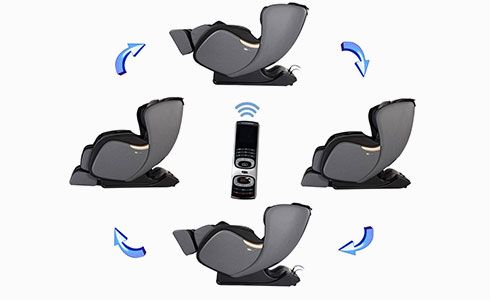 """Select one of four preset massage programs, plus for advanced relaxation, press the waist button to active the unique """"rocking chair"""" function."""