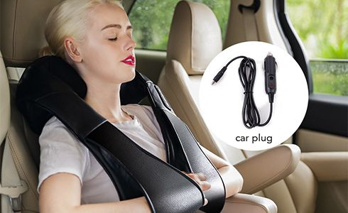 With power adapter and car charging cable in the package, you can have a deep massage therapy after a busy job at home, or after a long driving in the car, enjoy a private massage anytime and anywhere.