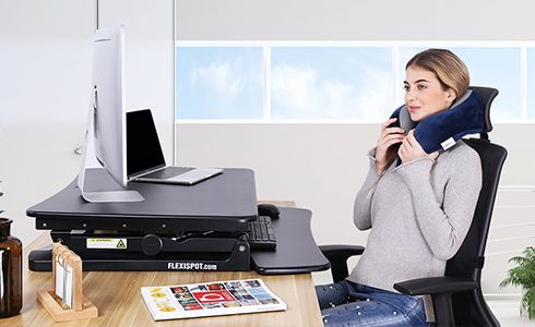 Comfortable neck pillow provide you with ergonomic and comfort office solution